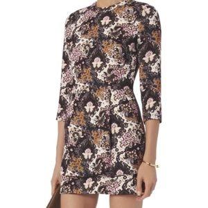 """ALC """"Tordi"""" Silk abstract pattern mini dress"""